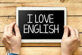 I love english — Stok fotoğraf