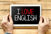 I love english — Stock fotografie