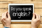 Do you speak English? — Zdjęcie stockowe