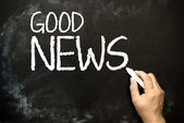 """Good News!"" handwritten — Stock Photo"