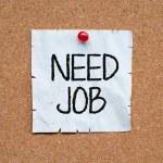 Need job written on an sticky note — Stock Photo #50374147