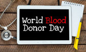 Blood donor day — Stock Photo