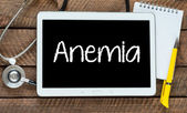 Anemia on tablet pc with stethroscope — Stock Photo