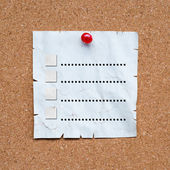 A To Do List pinned to a cork notice board — Stock Photo