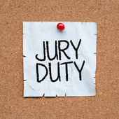 Jury Duty word — Stock Photo