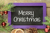 Handwritten Merry Christmas. — Stock Photo