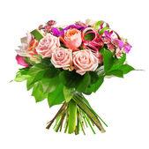 Bouquet de rosa, paeonia e orquídea — Foto Stock