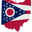 Ohio map with flag — Stock Photo