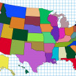 Royalty-Free Stock Photo: Colorful USA Map