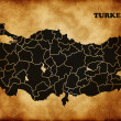 Turkey Country Map — Stock Photo