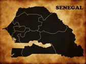 Map of Senegal — Stock Photo