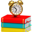 Stock Photo: Clock and books