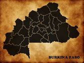Map of Burkina Faso — Stock Photo