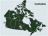 Map of Canada — Stockfoto