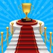 Ladders with red carpet — Stock Photo
