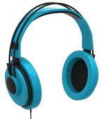 Blauwe hoofdtelefoon — Stockfoto