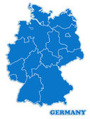 Germany map — Stock Photo