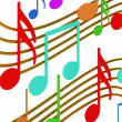 Color musical notes — Stockfoto
