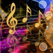 Stock Photo: Color musical notes
