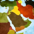 Map of the Middle East — Stock Photo #17373127