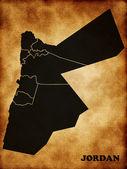 Map of Jordan — Stock Photo