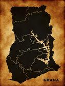 Mapa de ghana — Foto de Stock