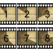 Detailed film countdown numbers — Stock Photo