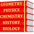 Stack of textbooks — Stock Photo