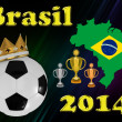 Brazil football 2014 - Stock Photo