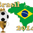 Stock Photo: Brazil football 2014