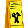 Sign under construction - Stock Photo