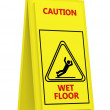 Sign caution wet floor - Stock Photo
