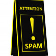 Spam! Hazard sign - Stock Photo