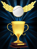 Gold Cup with a tennis ball — Stock Photo