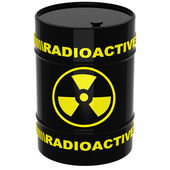 Barrel with radioactive materials — Stock Photo