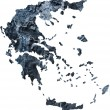 Map of Greece — Stock Photo