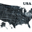 Stock Photo: Map of USA with states