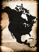 Map of North America — Stockfoto