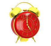 Classic red alarm clock — Stock Photo