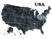 Map of USA with states — Foto de Stock