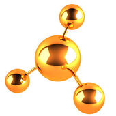 Molecule icon — Stock Photo