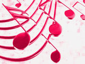 Color musical notes — Stock Photo