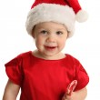 Toddler with Christmas candy — Stock Photo #14880401