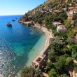 Shore of mediterranean sea, of Alanya city, Turkey — Stock Photo