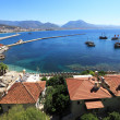 Historical harbor of city alanya. Coast of the mediterranean sea — Stock Photo