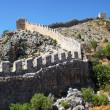 Historical defensive old wall of city Alanya, Turkey — Stock Photo #14187338