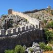 Historical defensive old wall of city Alanya, Turkey — Stock Photo
