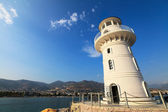Lighthouse of port Alanya city, Turkey — Stock Photo