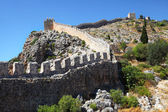 Historical defensive old wall of city Alanya, Turkey — Stock Photo