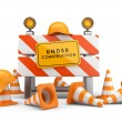 Under construction concept. 3D barrier isolated on white — Stock Photo #14871801